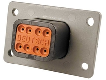Deutsch DT04-08PB-L012 - 8 WAY RECEPT FLANGE MOUNT B KEY