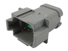 Deutsch DT04-08PA-P028 - CONNECTOR GREY BUSSED 1 X 3, 1 X 5