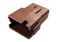 Deutsch DT04-12PD-B016 - DT 12WAY FEMALE RECEP D KEY BROWN