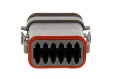 Deutsch DT06-12SA-E008 - DT 12WAY MALE PLUG + SHRINK BOOT ADAPTOR