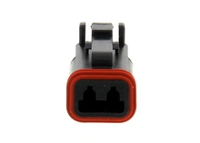 Deutsch DT06-2SB-E004W - DT 2WAY BLACK PLUG + B KEY WEDGE