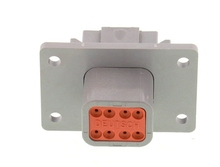 Deutsch DT04-08PA-L012W - DT 8WAY FEMALE BULKHEAD + WEDGE