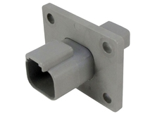 Deutsch DT04-2P-L012W - DT 2WAY FEMALE BULKHEAD + WEDGE