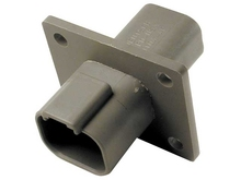 Deutsch DT04-4P-L012W - DT 4WAY FEMALE BULKHEAD + WEDGE