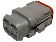 Deutsch DT06-08SA-E008 - DT 8WAY MALE PLUG + SHRINK BOOT ADAPTOR