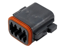 Deutsch DT06-08SB - DT 8WAY BLACK MALE PLUG
