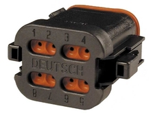 Deutsch DT06-08SB-EP06-W - CONNECTOR - includes wedge