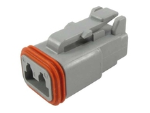 Deutsch DT06-2S-C015 - DT 2WAY MALE PLUG + REDUCED SEALS