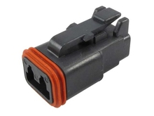 Deutsch DT06-2S-E004W - DT 2WAY BLACK PLUG + WEDGE
