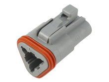 Deutsch DT06-3SW - DT 3WAY MALE PLUG + WEDGE