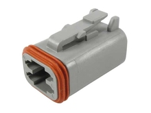 Deutsch DT06-4S-C015 - DT 4WAY MALE PLUG + REDUCED SEALS