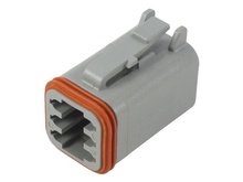 Deutsch DT06-6SW - DT 6WAY MALE PLUG + WEDGE