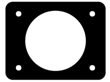 Deutsch DT3P-L012-GKT - DT GASKET FOR 3WAY FEMALE BULKHEAD