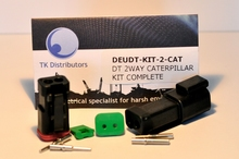 Deutsch DT04-2P-E005W-KIT - DT CAT 2WAY BLACK RECEP + WEDGE KIT