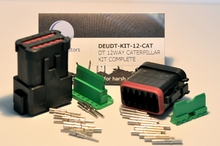 Deutsch DT04-12PA-E005W-KIT - DT CAT 12WAY BLACK RECP A KEY + WEDGE KIT