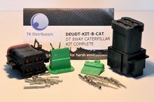 Deutsch DT04-08PA-E005W-KIT - DT CAT 8WAY BLACK RECEP A KEY + WEDGE KIT